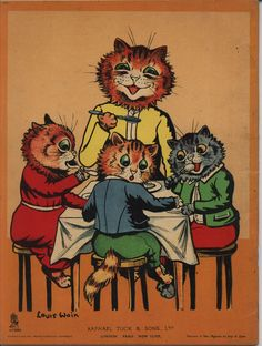 Louis Wain ~ THREE LITTLE KITTENS PAINTING BOOK