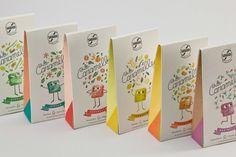 Un packaging créatif qui transforme des bonbons en adorables personnages  En Italie, la marque de chocolats Sabadi a collaboré avec l'agence Happycentro pour réaliser le packaging de sa nouvelle gamme de bonbons : « Le Caramelle ».