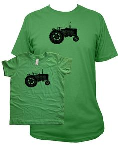 Tractor Matching Shirt Set / Father Son or by SunshineMountainTees