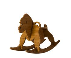 amber bamboo rocking gorilla - wee rock toy co Rocking Horse Plans, Rocking Horses, Bamboo Plywood, Wooden Rocker, Wooden Horse, Woodworking Toys, Pet Rocks, Kids Wood, Wood Toys