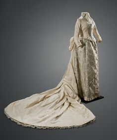wedding dress, ca. 1895