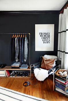 8 Impressive Simple Ideas: Minimalist Living Room Design Tiny House colorful minimalist home decor.Minimalist Home Closet Spaces minimalist bedroom blue window.Minimalist Home Interior Clothes Racks. Masculine Room, Masculine Bedrooms, Masculine Style, Decoracion Vintage Chic, Minimal Bedroom, Modern Bedroom, Bedroom Ideas For Men Modern, Danish Bedroom, Gothic Bedroom