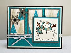 Great use of mattes and colors for this charming little guy I found on Splitcoaststampers...