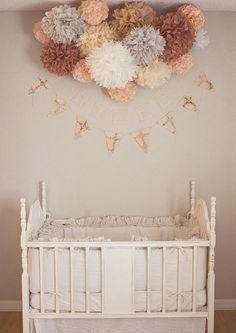 Nursery Poms ... 15 tissue paper poms| ETSY| Pom Love