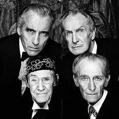 Some of the best Creepy Mutherfuckers-Christopher Lee, Vincent Price, Peter Cushing and John Carradine, 1983