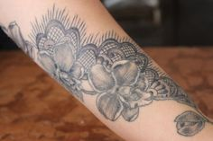 Using the wrist as a starting point, this tattoo beautifully goes up the arm as well.
