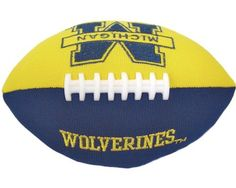Champion Treasures NCAA Michigan Wolverines Football Smasher by Champion Treasures. $12.49. High Quality Polyester with Fiber Filling. Full Color Embroidered Logo. Team Colors. Plays Main Segmant of Fight Song, Team Chant, and Team Slogan when Smashed. Makes a great gift for the die-hard fan in your life. Plush football that plays 3 different sounds each time its 'slammed'                                                                                                        ...