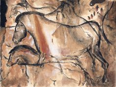 Cave Paintings Horses cave painting horse horses from the chauvet-pont-d'arc cave ...