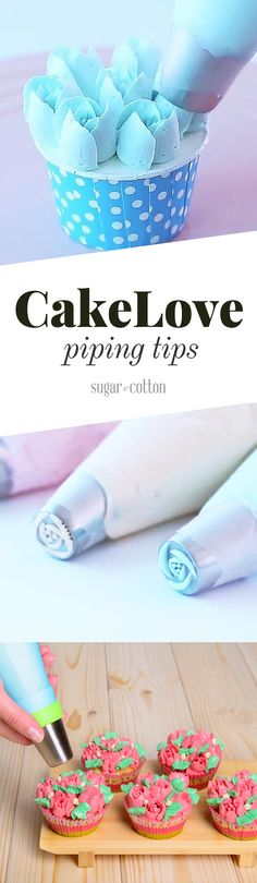 CakeLove Holiday Frosting Tips - ★★★★★ Baking Cupcakes, Fun Cupcakes, Cupcake Recipes, Cupcake Cakes, Dessert Recipes, Desserts, Wedding Cupcakes, Cake Decorating Techniques, Cake Decorating Tips