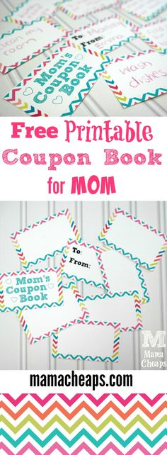 Free Printable Coupon Book for Moms - customizable!!