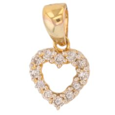 Tiffany & Co Heart Diamond 18K 750 Yellow Gold Small Pendant