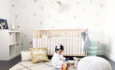 Wallpaper and Decals: A Nursery Trend We Love