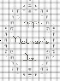 Free Printable Counted Cross Stitch Chart for Mother's Day : Free Happy Mother's Day Symbol Cross Stitch Pattern