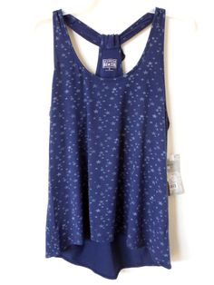 Converse One Star Navy Blue W/Stars High Low Tank/Cami Top Retail $19.99 New Nwt
