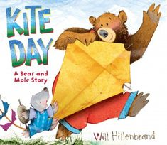 Kite Day: a Bear and Mole Story by Will Hillenbrand. Bear and Mole build a kite and take it out on a windy day, but when the weather suddenly turns stormy there are unexpected consequences for some birds. Toddlers and up for this sweet story. Preschool Books, Preschool Math, In Kindergarten, Preschool Weather, Preschool Ideas, Preschool Shapes, Kindergarten Projects, Preschool Lessons, Science Lessons