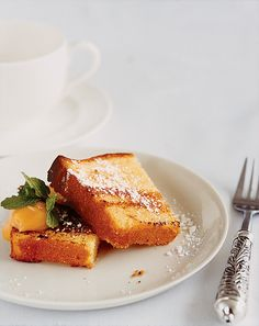grilled pound cake with lemon curd on domino.com