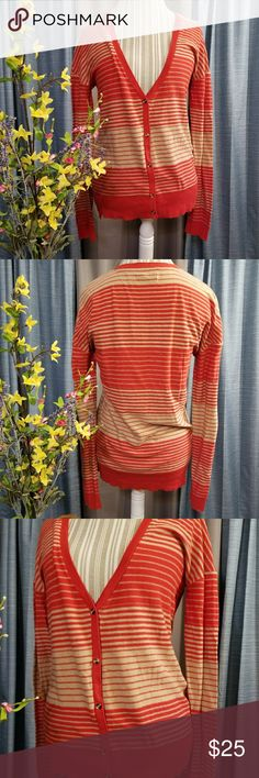 🌻🌺🌻URBAN OUTFITTERS NWOT BDG STRIPED CARDIGAN!! SIZE:medium   BRAND:Urban outfitters   CONDITION:NWOT, no flaws    COLOR: reddish orange and tan  Retail $59   🌟POSH AMBASSADOR, BUY WITH CONFIDENCE!   🌟CHECK OUT MY OTHER ITEMS TO BUNDLE AND SAVE ON SHIPPING!   🌟OFFERS WELCOME!   🌟FAST SHIPPING! Urban Outfitters Sweaters