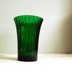 Vintage Emerald Green Napco Flower Vase 1161