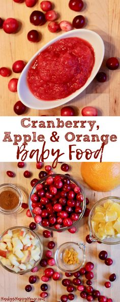 Get into the holiday season with this Cranberry, Apple & Orange Puree!