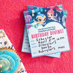 Shimmer and Shine Birthday Invitations