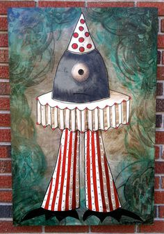 monster mixed media original painting for your by monsterbites, $697.50 art by sarah kargol