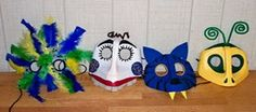 Make a Peruvian mask from plastic milk jugs. Genius use of recycled goods! Could use this idea for dragon masks. Halloween Crafts For Kids, Fun Crafts For Kids, Craft Activities For Kids, Projects For Kids, Holiday Crafts, Art For Kids, Art Projects, Craft Ideas, Halloween Ideas
