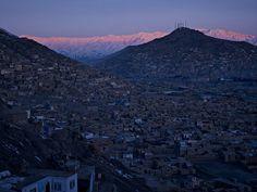 Simon Norfolk, View of Kabul city centre from Bala Burj