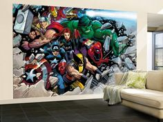 marvel wall murals