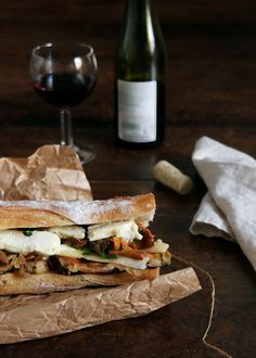 mixed mushroom sandwich // girolles // cepes // forest mishrooms // culatello // melty cheeses