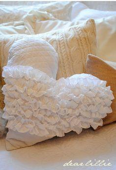 A beautiful heart pillow from 'Dear Lillie'