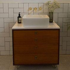 DULWICH-Industrial Bathroom Wash StandWooden Bathroom Vanity | Etsy Reclaimed Wood Bathroom Vanity, Wooden Vanity, Industrial Bathroom, Vanity Bathroom, Bathroom Wash Stands, Chelsea, Reclaimed Timber, Stone Countertops, Towel Rail