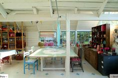 Barn-like Studio with large tables suitable for giving classes ~