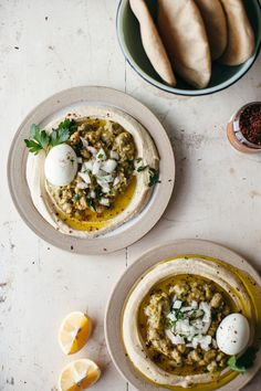 Ful Medames with hummus - a North African dish