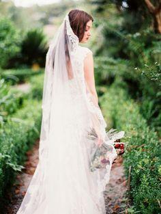 Plantation Bridals with Burgundy Florals | Wedding Sparrow