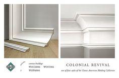 COLONIAL REVIVAL CROWN MOLDING CORNICE BUILDUP by WindsorONE, via Flickr