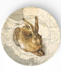 rabbit from a master  on 10 inch Melamine Plate by TheMadPlatters, $18,00