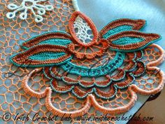 Best Crochet Designs I believe these are the best Irish Crochet lessons for the best value, not because the owner is my friend, but because first - her work, t. Irish Crochet Patterns, Crochet Motifs, Freeform Crochet, Crochet Art, Lace Patterns, Crochet Designs, Crochet Crafts, Crochet Flowers, Crochet Stitches