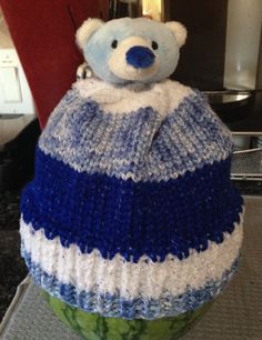 Baby Boy Hat. A Top This Pattern Kit. Easy knit.