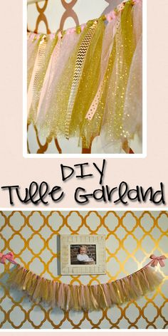 This Tulle Garland is great addition to the decor of any type of party! Check out this page to learn a quick and easy way to make one for your next event!