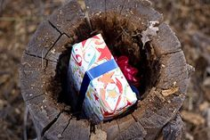 """Camping birthday party -- hide the presents, mark the coordinates on the GPS and have them go """"geocaching"""" to find the presents"""