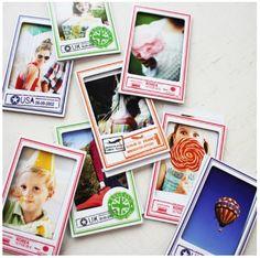 MochiThings.com: Vintage Stamp Magnet Instax Mini Frame Set