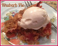 Rhubarb Pie Recipe | Staying Close To Home