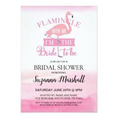 Flamingle With Me Bridal Shower Invite Flamingo - floral bridal shower gifts wedding bride party
