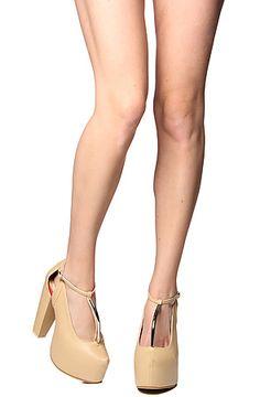 The Glida Mary-Jane Shoe in Beige