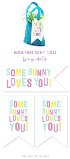 Free printable easter bunny gift tags decorating ideas somebunny loves you free printable easter tag negle Gallery