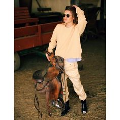 Ready for a ride out? Maja Wyh wearing a total Look by Céline. Available at ARPOPOS.