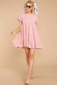 Pink dress outfits - Nothing More Nothing Less Light Pink Dress – Pink dress outfits Modest Dresses, Casual Dresses, Short Sleeve Dresses, Pink Dress Casual, Maxi Dresses, Modest Wear, Dance Dresses, Long Sleeve, Pink Dress Outfits