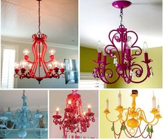 Funky home decor - Positively imaginative styling ideas. Useful pin example note 7363233653 filed in category funky home decor ideas fun, shared on 20190321 Diy On A Budget, Painted Chandelier, Cheap Chandelier, Diy Lamp Makeover, Dining Chandelier, Bathroom Lighting Diy, Diy Chandelier, Funky Home Decor, Colorful Chandelier