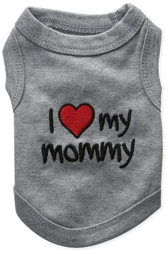 Parisian Pet I Love Mommy Dog T-Shirt, XX-Small ** Check this awesome product by going to the link at the image. (This is an affiliate link and I receive a commission for the sales) #MyPet