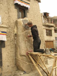 Tibet Heritage Fund - Leh Rock Carving - http://www.tibetheritagefund.org/pages/projects/ladakh/leh-rock-carving.php